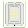 Светильники светодиодные с акустическими и оптико-акустическими датчиками
